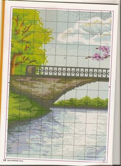 Пейзажи,мосты, домики, дворики...Схемы вышивок / Вышивка / Вышивка крестом
