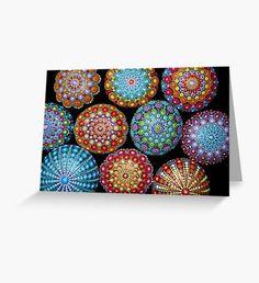 Mandala Painted stones  Tarjeta de felicitación