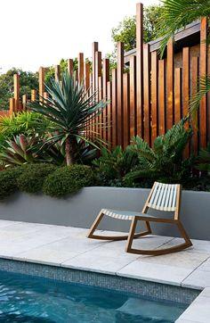 Building A Deck 188517934389252287 - North Avoca Elgata Source by Backyard Pool Designs, Backyard Patio, Backyard Landscaping, Small Backyard Pools, Modern Backyard, Tropical Landscaping, Modern Landscaping, Outdoor Living, Outdoor Decor