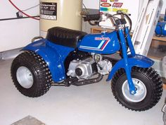 This is a very rare bike! The 1983 Honda ATC70 Christmas special bike in blue. There was only one offered per dealer and they were raffled off during the Christmas holiday. We were able to find this bike after a long search. The bike got a factory showroom new restoration.