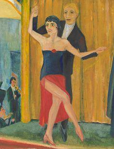 Erich Heckel, German 1883–1970, Great dancing pair (Grosses tanzpaar), 1923, oil on canvas