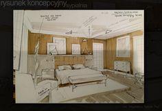 interior design sketch for the bedroom