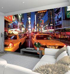 New York Times Square Wallpaper Mural