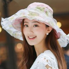 Fashion bow wide brim sun hat for women UV summer hats package