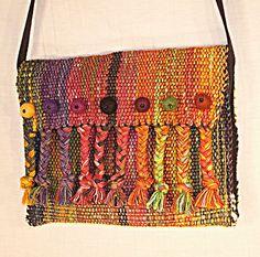 handwoven bag felt balls and braids clutch | Flickr - Photo Sharing!