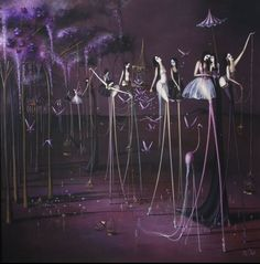 Rozy Demant Rozi Demant paintings refer to representation surrealism, a genre championed by Dali and Magritte, whose philosophie. The Rite, Purple Art, Pop Surrealism, Art For Art Sake, Whimsical Art, Picture Design, Dark Art, Textile Art, Paper Art