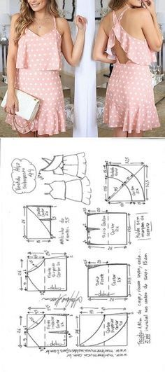 Sewing dress patterns diy New ideas Sewing Dress, Dress Sewing Patterns, Diy Dress, Sewing Patterns Free, Sewing Clothes, Clothing Patterns, Sewing Diy, Free Pattern, Baby Clothes Patterns