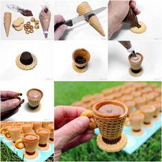 """Bricolage Comestible: Biscuits en """"Tasses de Thé"""" Sans Cuisson!!! • Quebec echantillons gratuits"""