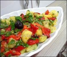 Köz biberli,patates salatası  Malzemeler: