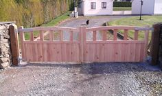 Timber Gates, Garden Bridge, Deck, Outdoor Structures, Outdoor Decor, Home Decor, Wood Gates, Decoration Home, Room Decor