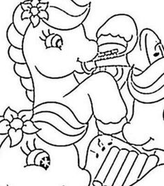 Ponies Playing Music Coloring Page Hello Kids You Will Love To Color A Nice