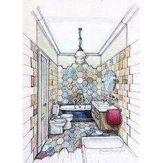 Квартира в Варне. Гостевой санузел #bathroom #lmperialbathrooms #cirserenissima #эскиз#sunnyday#море#акварель#varna#sketch#ar_sketch#sannyday#болгария #варна#bolgaria##bulgarian#константиниелена #sketch #art #art_sketch #drawing #интерьерсанузла #interiordesign