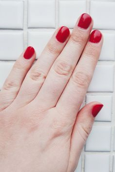 Zoya Carmen Nail Polish, such a gorgeous red shade ♥ Zoya Nail Polish, True Red, You Nailed It, Cruelty Free, My Nails, Manicure, Give It To Me, Make It Yourself, Pretty