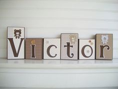 Hey, I found this really awesome Etsy listing at https://www.etsy.com/listing/192581912/baby-name-blocks-teddy-bears-three