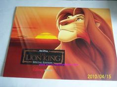 4 Disney Store Lion King Special Edition Lithographs Pictures Photos Simba