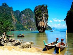 Khao Phing Kan, Phuket,Thailand. This is the real deal–too many photo shopped pix circulating the internet with various structures atop the natural phenomena.