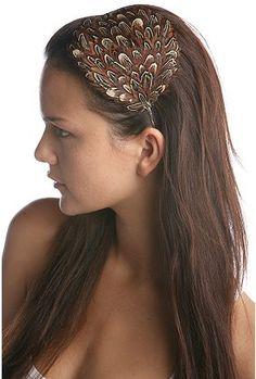 feather hair band/ facinator