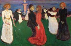 Edvard Munch - Livets dans, 1899-1900. Oil on canvas. 125 x 191 cm — at Nasjonalmuseet for kunst, arkitektur og design.