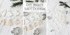 If you want to create white salt dough ornaments this Christmas you will love this DIY recipe for how to whiten salt dough!