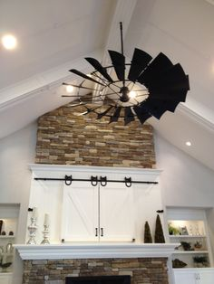 windmill fan and barn doors.
