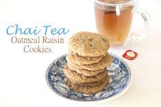 Chai Tea Oatmeal Raisin Cookies www.garlicfingersblog.com