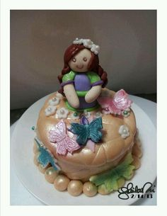 My daughter's spring girl mini cake 1. By Sheila Marie Matienzo