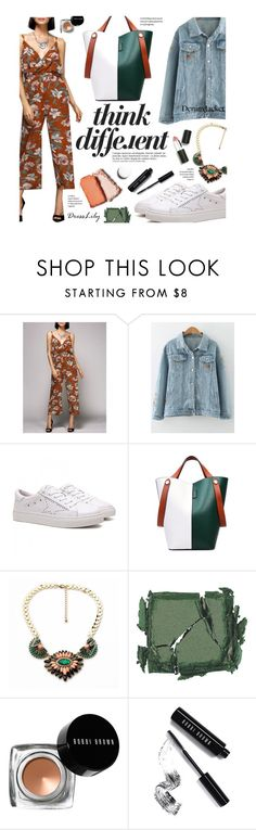 """DressLily 187/30 - think different"" by federica-m ❤ liked on Polyvore featuring Anja, Surratt, Bobbi Brown Cosmetics, Sigma Beauty, denimjacket and dresslily"