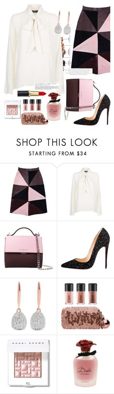 """Pink dream"" by risha-monica ❤ liked on Polyvore featuring Urban Decay, Florence Bridge, Givenchy, Christian Louboutin, Monica Vinader, MAC Cosmetics, Bobbi Brown Cosmetics and Dolce&Gabbana"