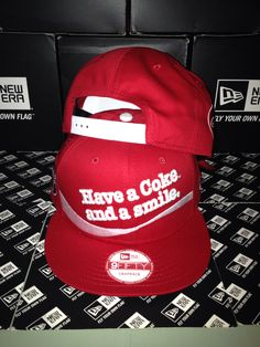 New Era x Coca Cola Have a Coke and a smile 9FIFTY Snapback Small Medium fd7fb0521fa8