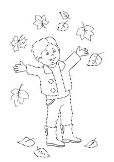 Autumn Line Study - - Coloring For Kids, Coloring Pages, Fall Crafts, Crafts For Kids, Music Therapy Activities, Farm Animals Preschool, Forest School Activities, Horse Camp, Drawing Sheet