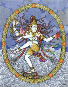 """Dancing Shiva. """"Shiva Nataraja's dance represents both the destruction and the creation of the universe and reveals the cycles of death, birth, and rebirth. Under his feet, Shiva crushes the demon of ignorance, caused by forgetfulness. The fire represents the final destruction of creation, but the dance of the Nataraja is also an act of creation, which arouses dormant energies and scatters the ashes of the universe in a pattern that will be the design of the ensuing creation."""""""