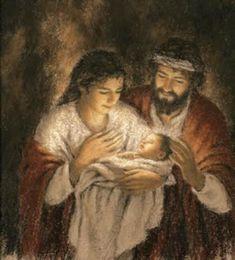 Joseph, Mary, & infant Jesus