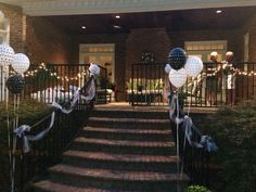 Patio decor for black and white party
