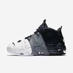 the best attitude d1f8f ce87c 2017 2018 Daily Nike Air More Uptempo Tri-Color Black Cool-Grey-White  Basketball Shoe For Sale