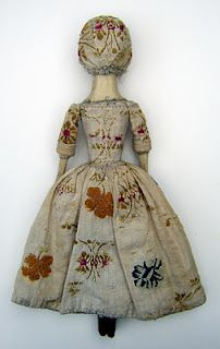 folk doll from The Old Pretenders -  The finest museum quality reproductions and restorations of 17th and 18th century English wooden dolls