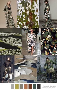 ~ Camouflage collage ~ by Pattern Curator Fashion Colours, Colorful Fashion, Trendy Fashion, Style Fashion, Fashion Design, Color Patterns, Print Patterns, Color 2017, Fashion Collage