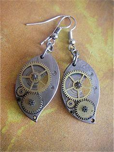steampunk earrings too!