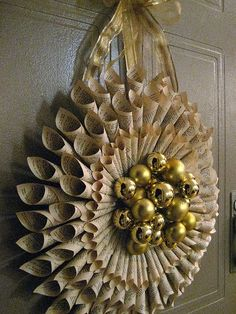 rolled paper wreath directions