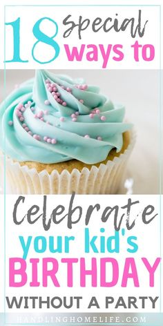 How To Celebrate Without a Party: Special Birthday Ideas For Kids Birthday ideas for kids! Fun and special non party birthday celebrations. Make birthdays special with these unique activities! Small Birthday Parties, Special Birthday, Birthday Fun, Birthday Party Themes, Birthday Ideas, Birthday Stuff, Diy Birthday Banner, Birthday Plate, Birthday Traditions