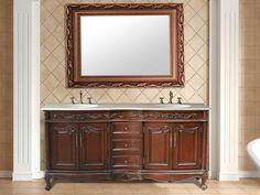 Van Buren Double Vanity with Cream Marble Top