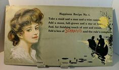 Large Antique Victorian Advertising poster 1908 Candy 20x11 NICE | eBay
