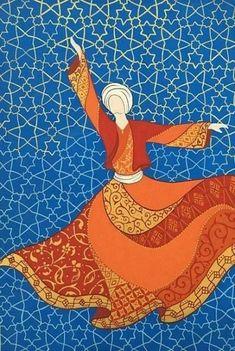 Islamic Art Pattern, Pattern Art, Dance Paintings, Islamic Paintings, Iranian Art, Turkish Art, Art Sites, Abstract Portrait, Bunt