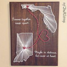 String Art Templates, String Art Patterns, String Art Diy, Diy Arts And Crafts, Art Crafts, Kids Crafts, Two Hearts, Script, Heart Art