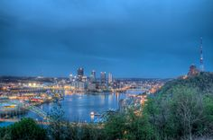 West End Blue Hour - Pittsburgh