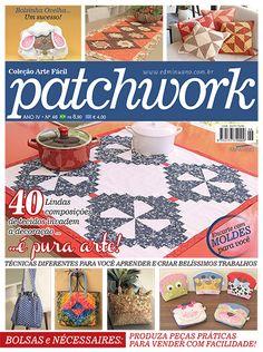 Artesanato - Apliquê - Patchwork : COL ARTE FACIL PATCHWORK 046 - Editora Minuano