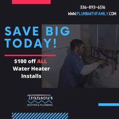 Who wants to save money? Well, if you are looking to upgrade or replace your current water heater. WE CAN HELP! Take advantage of this limited-time water heater offer. Give us a call to set up your appointment TODAY!