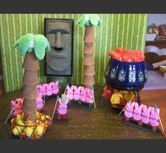 """One of this Easter's entries in the Peeps contest.  This is """"Peeps Survivor"""""""