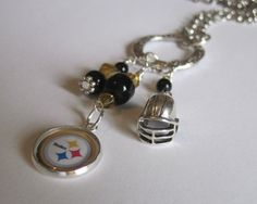 Pittsburgh Steelers Charm Necklace Go Steelers NFL by KikisJewels, $20.00