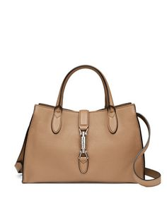 Jackie Soft Leather Top Handle Bag, Camel by Gucci at Neiman Marcus.