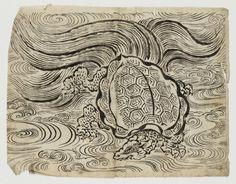 Japanese Art Prints, Japanese Drawings, Japanese Artwork, Japanese Tattoo Art, Japanese Painting, Japan Tattoo Design, Japanese Animals, Japanese Folklore, Japan Art